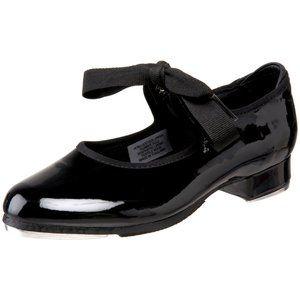 Bloch Dance Girl's Annie Tyette Black Tap Shoe 7.5